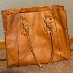 Merona Brown Purse Large Size 4 Pockets